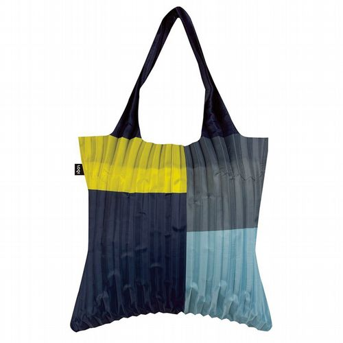 Pleated Shopper - Geometric Lemon
